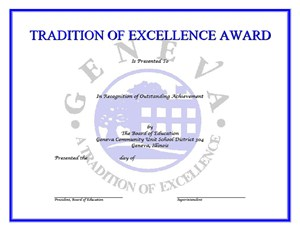 Board Presents Tradition of Excellence Awards