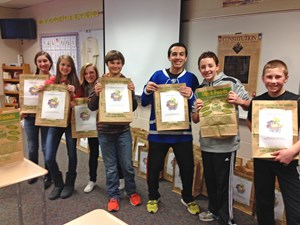 Students Assemble Birthday Bags