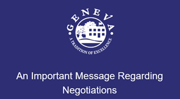 Important Update Regarding Negotiations
