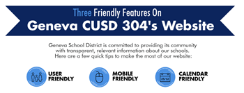 3 friendly features on Geneva 304 website