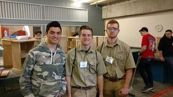 GHS Students Demonstrate Cabinet-Making at Skills USA State Competition