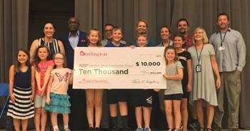 Harrison Street School Accepts Donation Frpm Burlington Stores