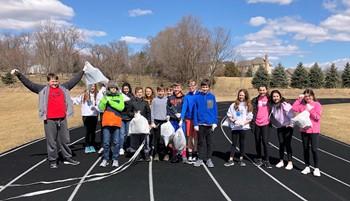 GMSN Students Participate in Trashtag Challenge