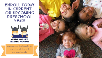 Enroll Your Preschooler Today! Click to read enrollment information