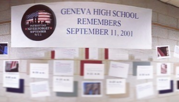 GHS Sept 11 Remembrance Wall