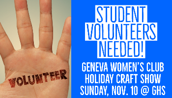 Volunteers Needed at Holiday Craft Show