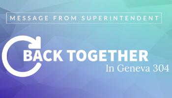 Back Together Superintendent Message