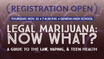 Registration Open for Nov. 21 Forum on Marijuana and Vaping at GHS