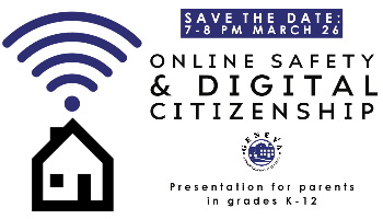 Online Safety Save the Date March 28 7-8 pm at Geneva High School