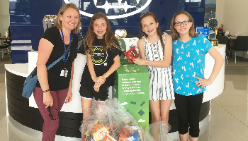 The Green Team Donates Recyclable Chip Bags