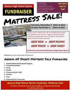 GHS Sports Fundraiser Mattress Sale