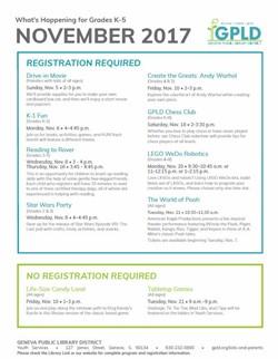 K-5 Event Sheet November