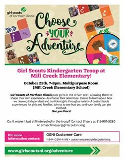 Mill Creek K Troop Adventure