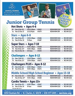 Junior Group Tennis Schedule