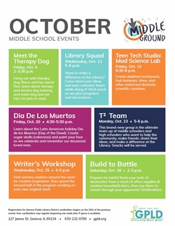 Middle School Events October