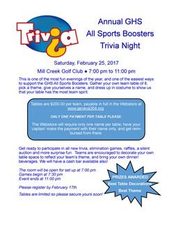Sports Boosters Trivia Night