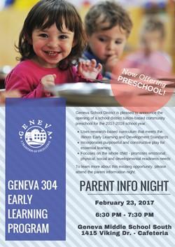 New Preschool Info Night