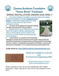 GAF Honor Bricks