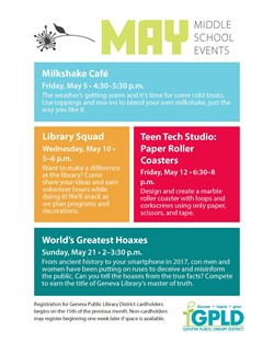 GPLD Middle School Events