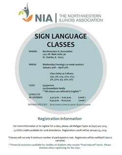 Sign Language Flyer April 17