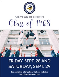 GHS Class of 1968 50-year Reunion Sept. 29