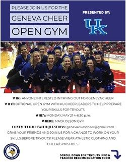 Cheer Tryouts May 24