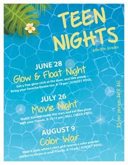 Teen Nights Aug 9