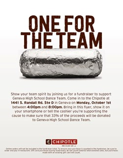 Chipotle Fundraiser Oct 1