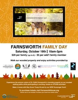 Farnsworth Family Day Oct 19