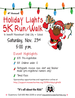 Holiday Light 5K Run Walk Nov 23
