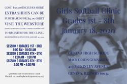 Softball Clinic Flyer Jan 18