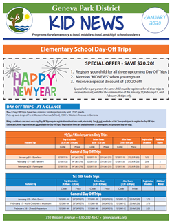 Park District Newsletter Jan 31
