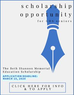 Beth Shannon Scholarship March 15