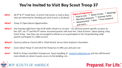 Open house Invites Webelos March 3