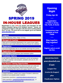Spring Registration April 26