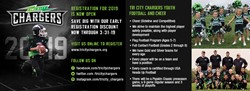 TriCity Chargers Registration March 31