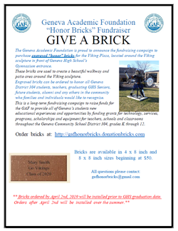 GAF Honor Bricks April 2