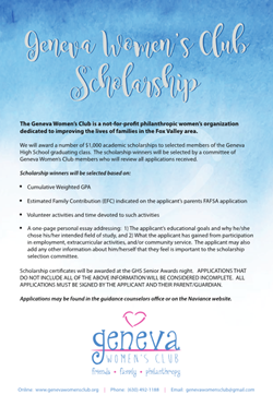 GWC Scholarships April 5