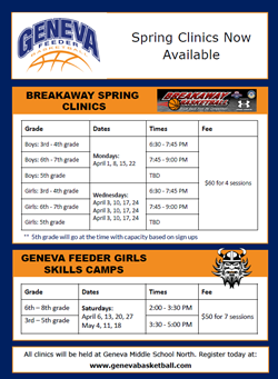 GFB Spring Clinics April 1
