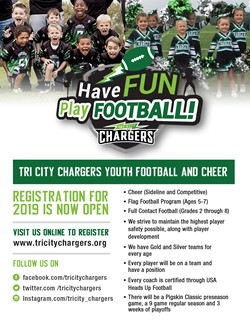 TriCity Chargers Football Cheer July 29