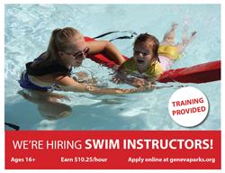 Now Hiring Swim Instructors June 15