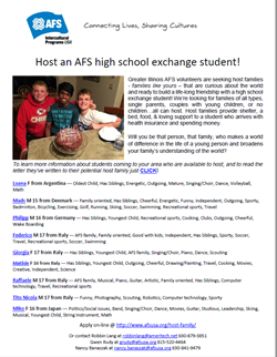 AFS Greater Illinois Student June 1