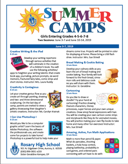 Rosary Camp Flyer June 3