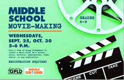 Middle School Movie Making Poster Nov 1