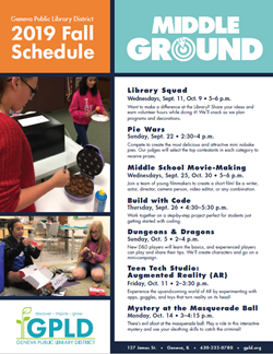 Middle Ground Fall Schedule Nov 1