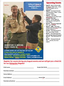 Cub Scouts Sept 29
