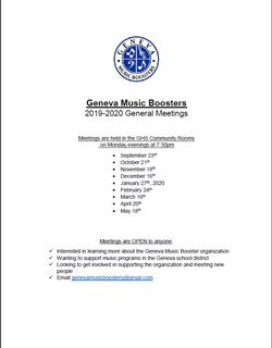 GMB 2019 20 General Mtg Schedule Sept 21