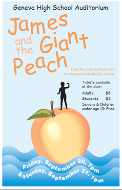 James and the Giant Peach Sept 22