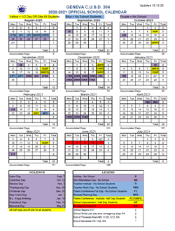District Calendar 2020-21