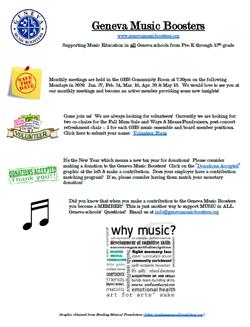 Geneva Music Boosters May 18